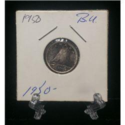 1950 Canada 10-Cents Silver Coin (BU)