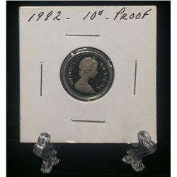 1982 Canada 10-Cents Proof Coin