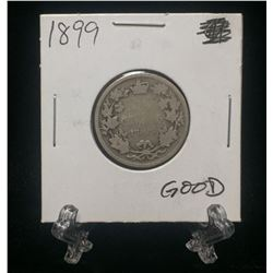 1899 Canada 25-Cents Silver Coin (G)