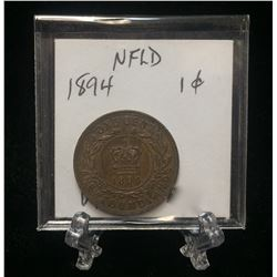 1894 Newfoundland 1-Cent Coin (VF)