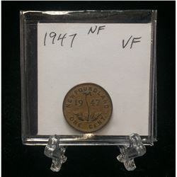 1947 Newfoundland 1-Cent Coin (VF)