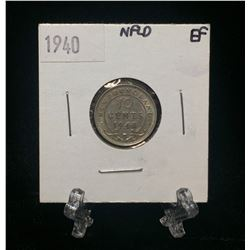 1938 Newfoundland 10-Cents Silver Coin (VF)