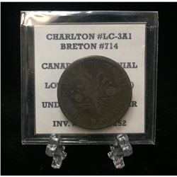 Undated Lower Canada Montreal Un Sou Token BR 714 (F)