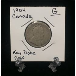 1904 Canada 25-Cents Silver Coin (G)