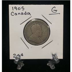 1905 Canada 25-Cents Silver Coin (G)