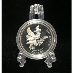 1995 Canada 50-Cents White-Tailed Ptarmigan: Birds of Canada Proof Silver Coin
