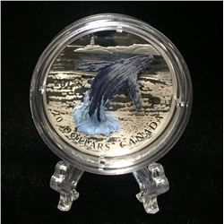 2017 Canada $20 Breaching Whale 3D Coloured Proof Silver Coin