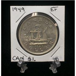 1949 Canada $1 Silver Dollar