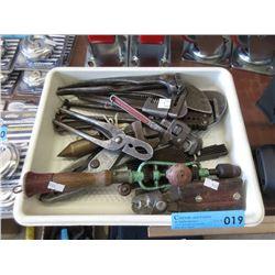 Bin of Vintage Hand Tools