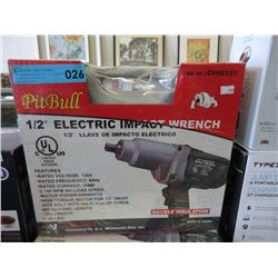 """New Pit Bull 1/2"""" Electric Impact Wrench"""