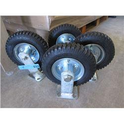 Set of 4 Air Tire 8 Inch Wheels