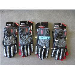 4 New XL BDG Driller Gloves