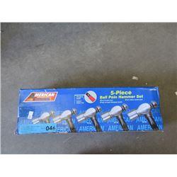 New 5 Piece Ball-Peen Hammer Set