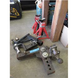 3 Trailer Hitches & 2 Jack Stands