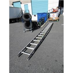 32 Foot  Aluminum Extension Ladder