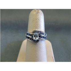 Blue Topaz & Sapphire Cocktail Ring