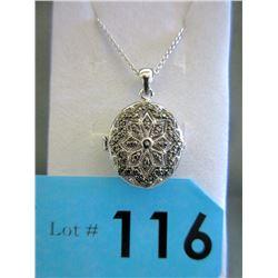 Large Oval Diamond Locket