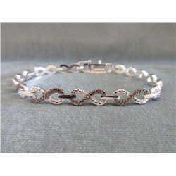Black & White Diamond Infinity Diamond Bracelet