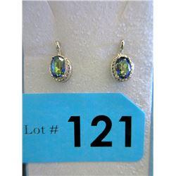 New Mystic Topaz & Diamond Earrings