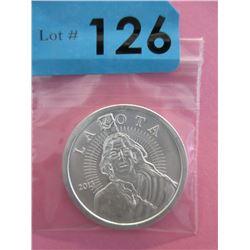 1 Oz .999 Fine Silver Lakota Buffalo Coin