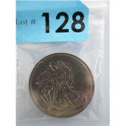 1 Oz. .999 Fine Titanium Walking Liberty Round