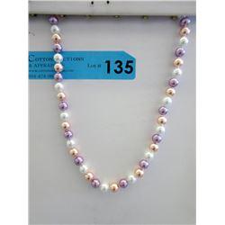 New Multi-Colour South Sea Shell Pearl Necklace