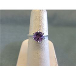 Sterling Silver Lavender Amethyst Solitaire Ring