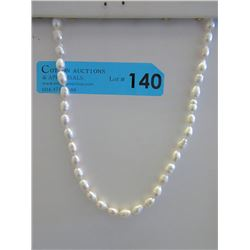 Freshwater Pearl Necklace - Off-White Luster