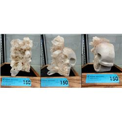 Hand Carved Quartz Formation Skull