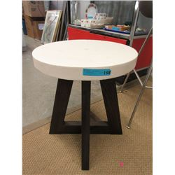 Contemporary End Table with Ceramic Top