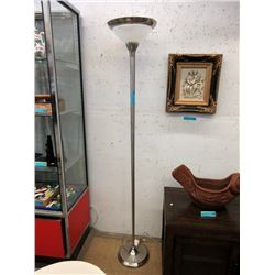 6 Foot Floor Lamp with Brushed Nickel Finish