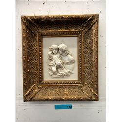 Ornate Bass Relief Frame Pictures