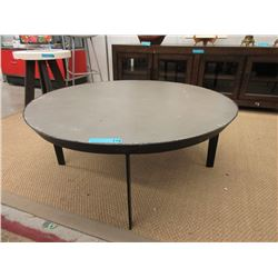 Round Coffee Table with Concrete Skin Top