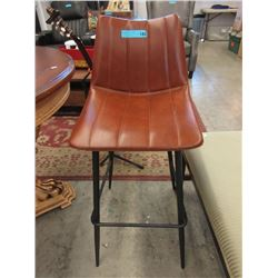 "30"" Faux Leather Bar Stool - Floor Model"