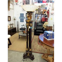 "72"" tall Floor Lamp with Glass Shade."