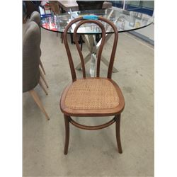 New Wood Dining Chair with Rattan Seat