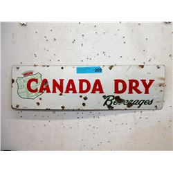 Vintage Enameled Steel Canada Dry Sign