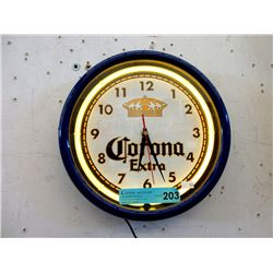 Electric Neon Corona Extra Clock