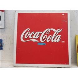 Vintage Pressed Steel Coca-Cola Sign