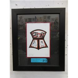 "Richard Shorty Framed Print ""Copper Design"""