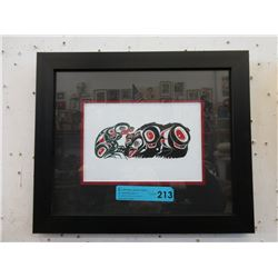"Richard Shorty Framed Print ""Bear & Frog"""