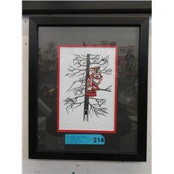 "Richard Shorty Framed Print ""Copper Tone Owl"""