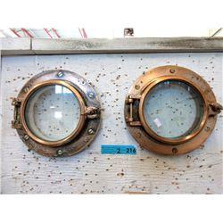Pair of Brass 12  Portholes
