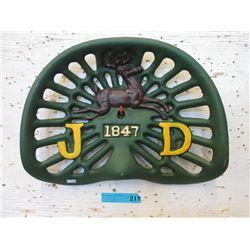 Cast Metal John Deere Tractor Seat