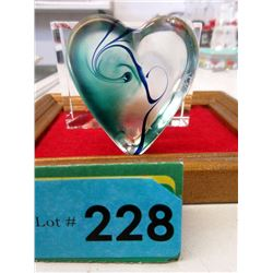 Signed Robert Held Art Glass Heart