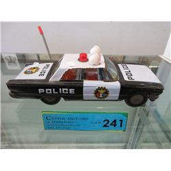1950s Tin Friction Drive Police Car