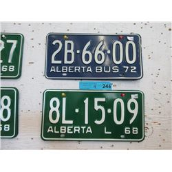 2 Unused Pairs of Vintage Alberta License Plates