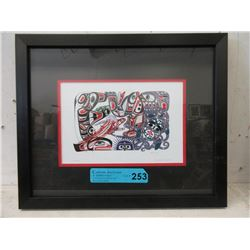 "Richard Shorty Framed Print ""Oceanic"""