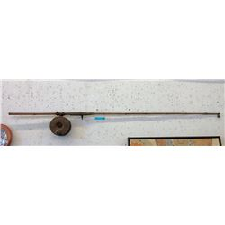 Vintage Bamboo Deep Fishing Rod & Reel