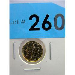 1/10 OzCanada Maple Leaf .9999 Gold Coin